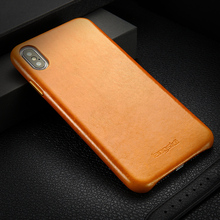 Genuine Leather Case for iPhone X XR XS MAX Luxury Marvel Vintage Apple Phone Business Thin Back Cover iphone xsMAX