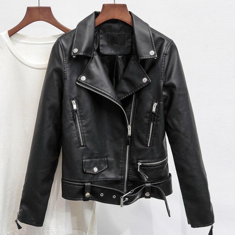 2019 femmes vestes en cuir automobile de mode vêtements marque Original Designer nouveauté 2019 femme PU daim veste manteau B446