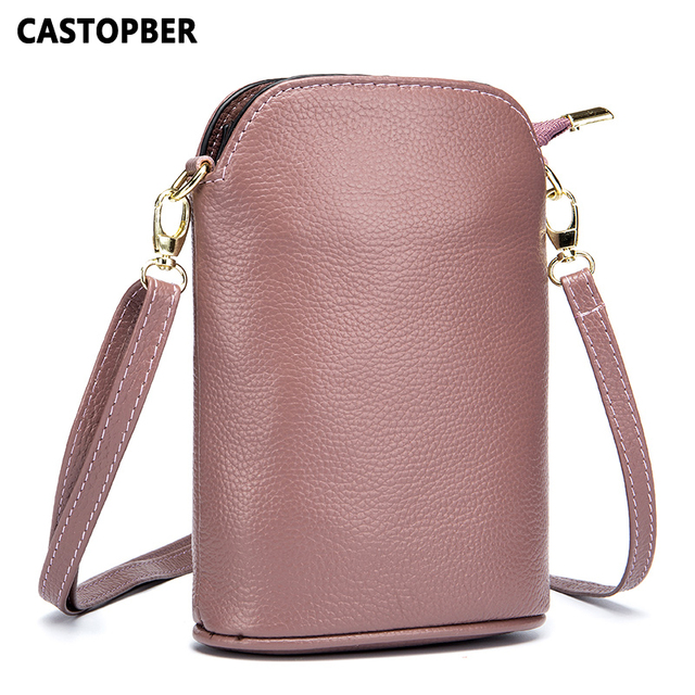 e4fd54d413d US $23.08 49% OFF|Women 2018 New Fashion Mini Crossbody Cell Phone Bag  Messenger Small Bags Cow Genuine Leather Ladies High Quality Famous  Brand-in ...