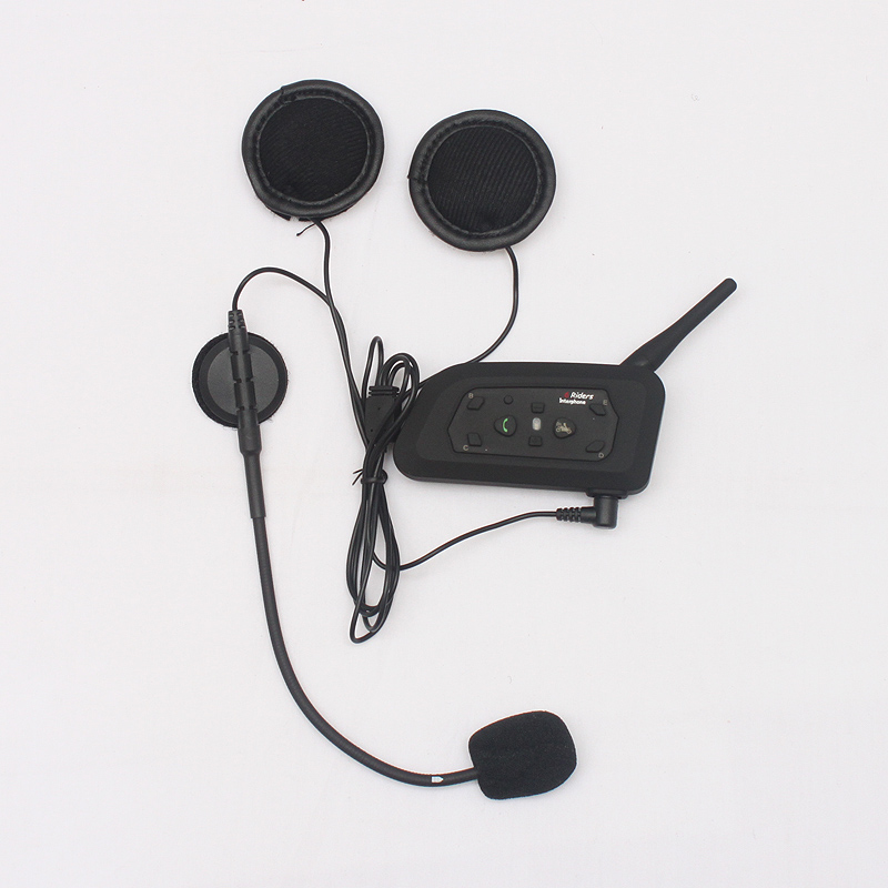 1 pcs V6 BT Multi Interphone Bluetooth Intercom Motorcycle Wireless Headphones Accessories 1200M Helmet Headset 6 Riders 2016 newest bt s2 1000m motorcycle helmet bluetooth headset interphone intercom waterproof fm radio music headphones gps