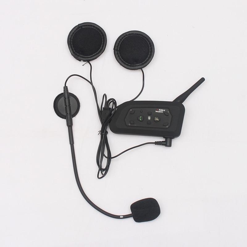 1 pcs V6 BT Multi Interphone Bluetooth Intercom Motorcycle Wireless Headphones Accessories 1200M Helmet Headset 6 Riders