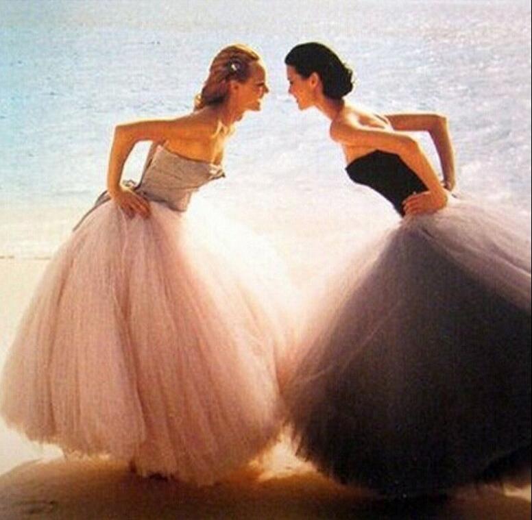 Custom Made FOLOBE Fashion 7 Layers 100cm Tulle Skirt Long Tulle Skirts Womens Adult tutu Faldas