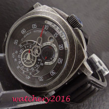 лучшая цена modisch 44mm Parnis sapphire glass black dial miyota automatic movement Men's Watch
