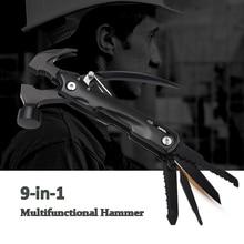 Многофункциональный молоток бытовой аварийный молоток ручные инструменты, Портативный Спасательный молоток безопасности Открытый Кемпинг складной молоток нож