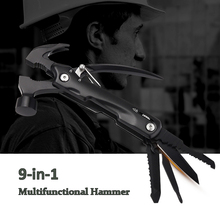 Multifunctional Hammer Household Emergency Hand Tools,Portable Rescue Safety Outdoor Camping Folding Knife