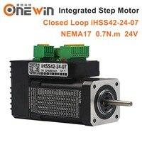 JMC NEMA17 Integrated Closed Loop Stepper Motor 24V 0.7Nm 2 phase IHSS42 24 07 Hybrid stepper servo motor
