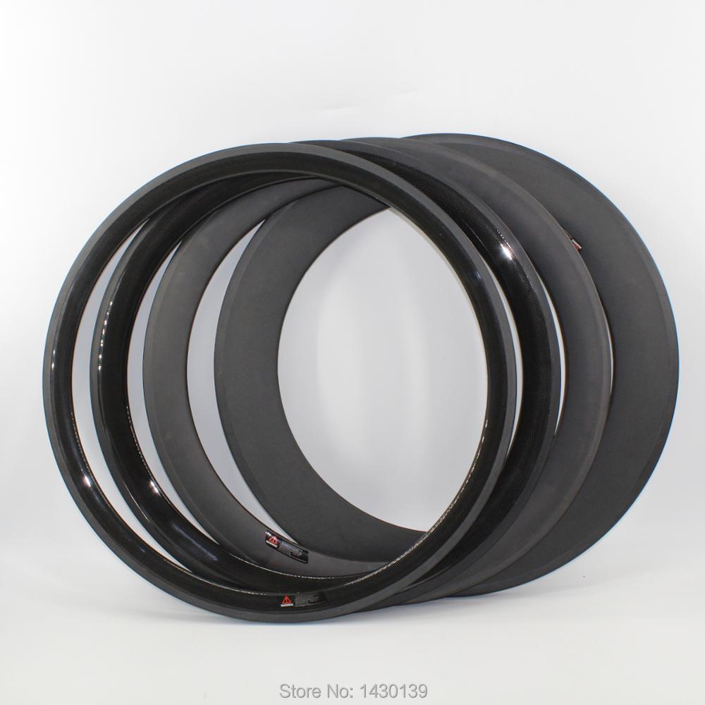 Le plus nouveau 700C 38 50 60 88mm pneu jantes route vélo mat 3 K UD 12 K T800 roues en fibre de carbone jantes de vélo 23 25mm de largeur