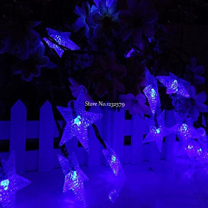 Stern Weihnachtsbeleuchtung.Us 21 99 Solarleuchten 6 Mt 30 Led Solar Perle Stern Weihnachtsbeleuchtung Für Hausgarten Wasserdichte Led Sensor Im Freien Licht In Solarleuchten