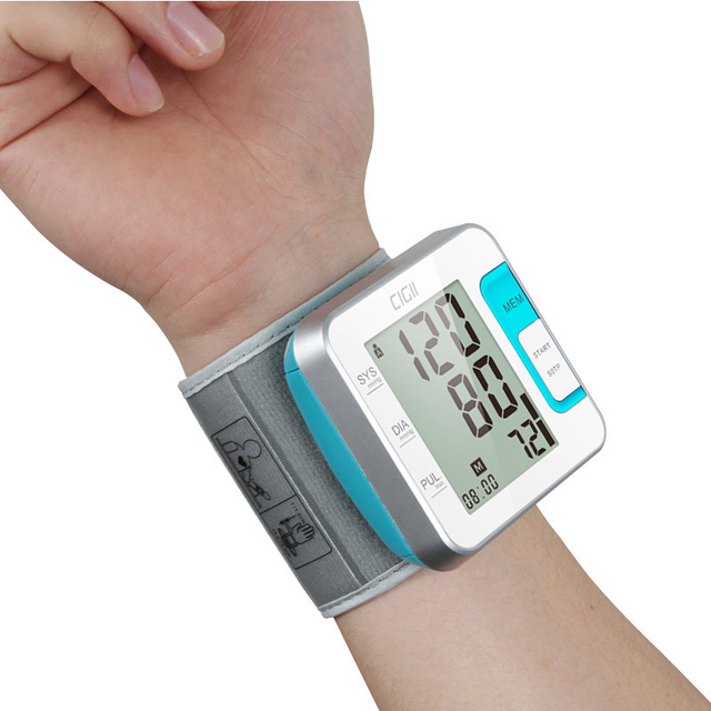 Cigii Tonometer Smart digital display bracelet Heart rate monitor 1 PCS Health care Wrist blood pressure Monitor 5