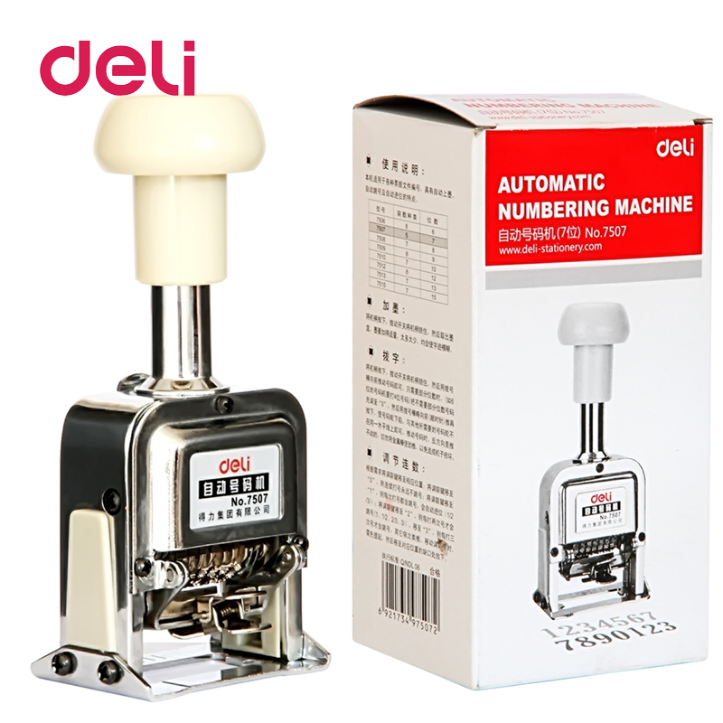 Deli Number Machine 7 Position Automatic Numbering Machine Into The Number Coding Page Chapter Marking Machine Digital Stamp