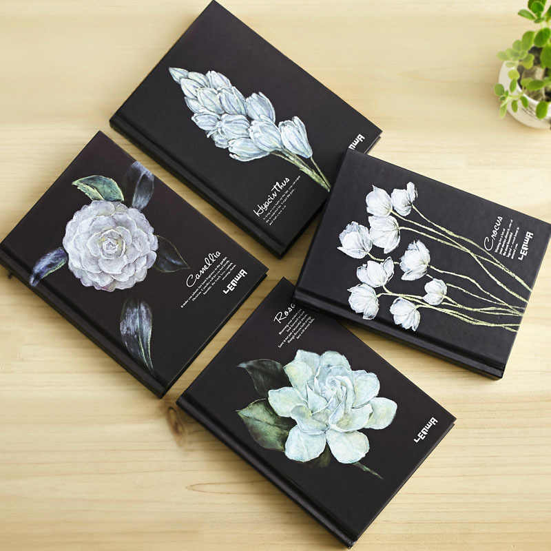 Creative flowers story notebook cute hardcover A5 Notepad diary agenda planner filofax sketch book school notebooks caderno gift