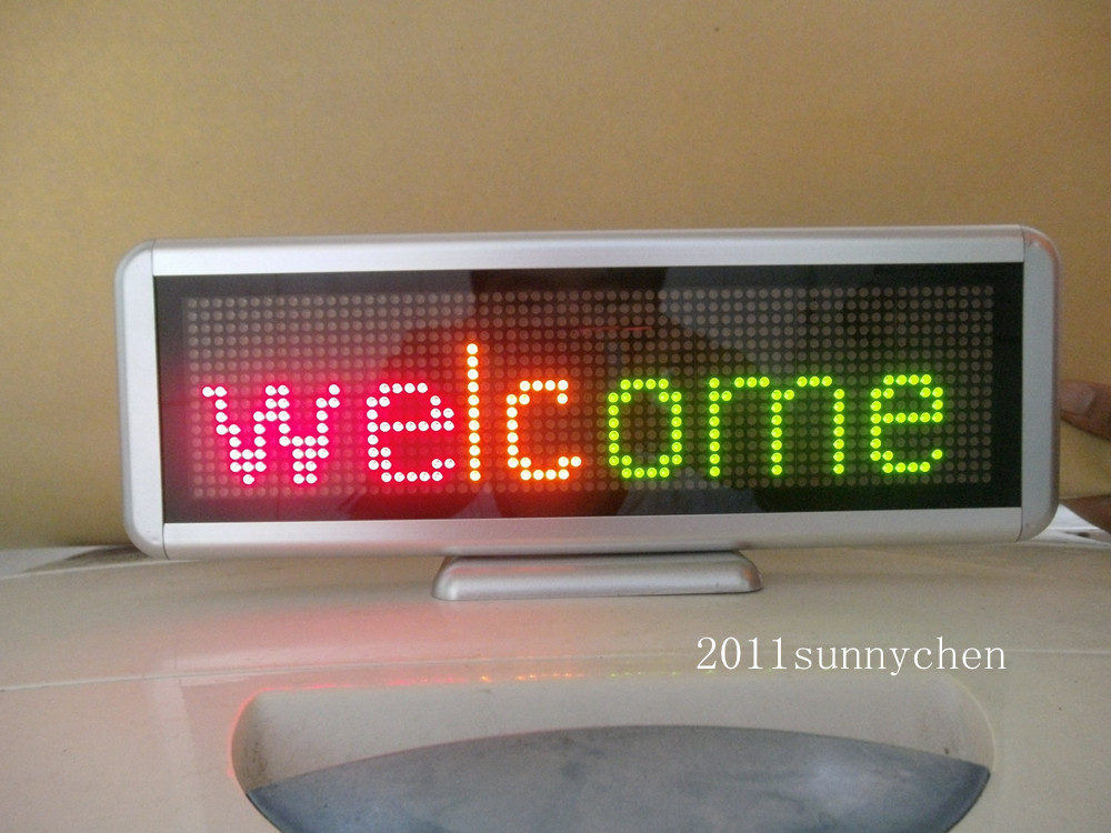 3 Color Programmable LED Message Sign Scroll Moving Display 16x64 dot Desk board hd high quality led gas price display sign outdoor led billboard green color 12 outdoor led display screen