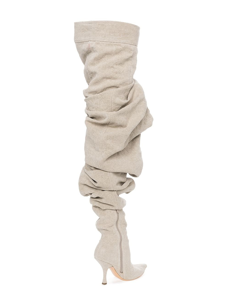 Tacón Señoras Pictures 2018 Mujeres Llegadas Marrón Muslo Vestido Sestito Puntiagudos Alto De Especial Pasarela Plisado Botas Zapatos Nuevas Otoño Altas Largas as fZxqdq1Pw