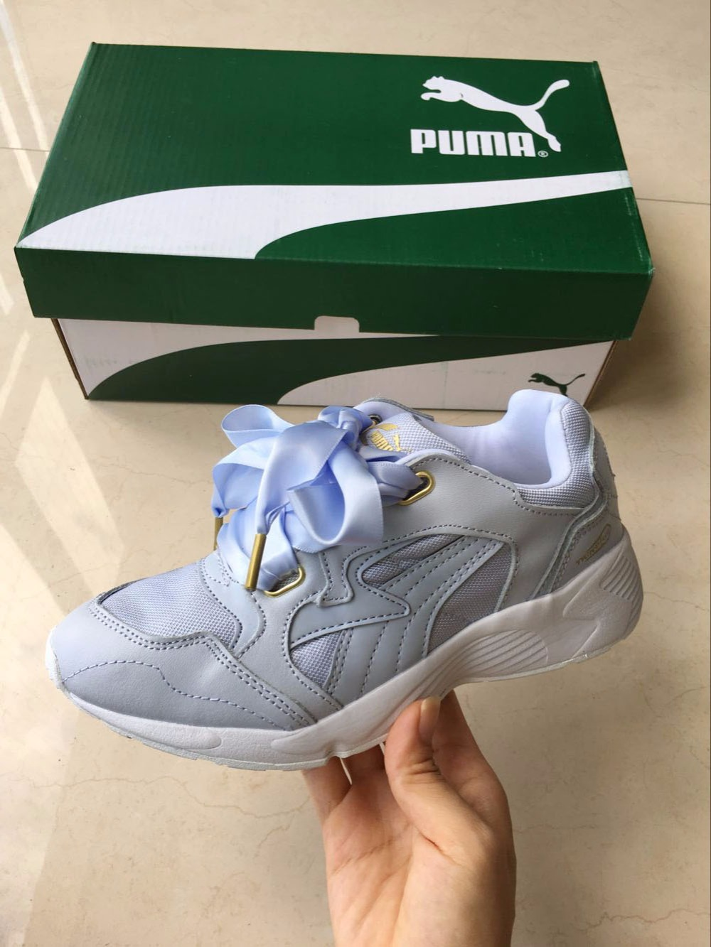 cb3112e97b1 New Arrival 2017 PUMA PUMA Prevail Heart Women s shoes Breathable Sneakers  Badminton Shoes-in Badminton Shoes from Sports   Entertainment on  Aliexpress.com ...