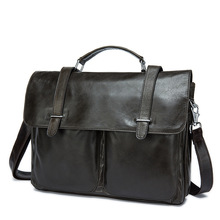 DALFR Cowhide Bags for Men 19 Inch European and American Style Briefcase Solid Messenger Bags Laptop Bags Genuine Leather