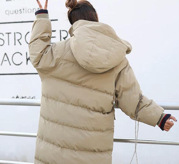 khaki Femme gray Rust En Capuchon Nouveau D'hiver Manteau Ouatée D379 Long Rembourré Red Étudiant Hiver Chaud 2017 Veste Outwear Filles Femmes Parkas À Des Coton U1Sg5qxw