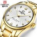 Luxury business Automatische uhr männer Top marke Mechanische uhr Kalender Leucht Sapphire KARNEVAL marke neue Männer Uhr mit box