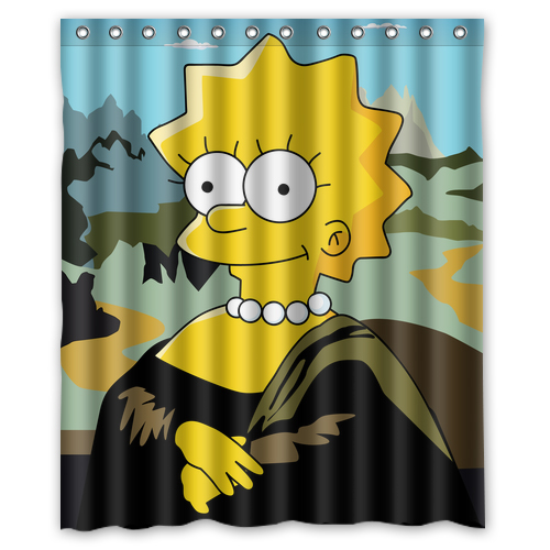 Online buy wholesale mona lisa curtain from china mona for Mona lisa shower curtain