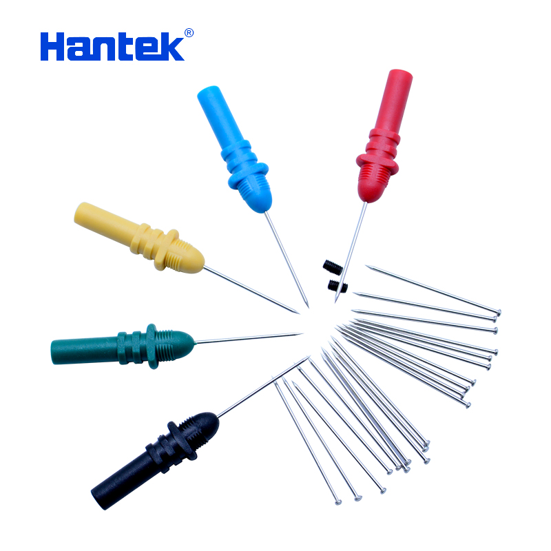 Hantek HT307 oscilloscope Back Pinning Probes/Needle/ Piercing Probes Set(Set of 5,Assorted Colors) automotive  logic analyzer