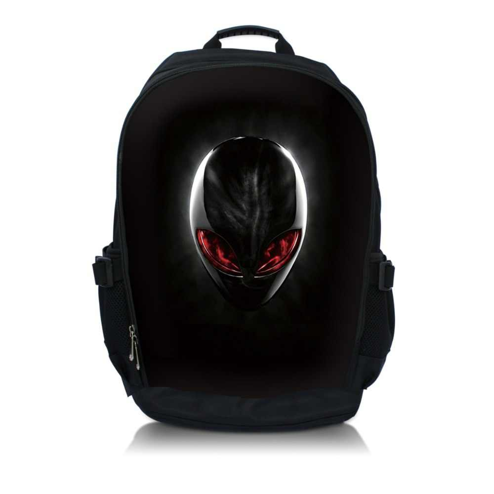 Alien Print 15.6 Inch Netbook/Notebook/Laptop Bag Rugzak School Travel Sporttas Boekentas