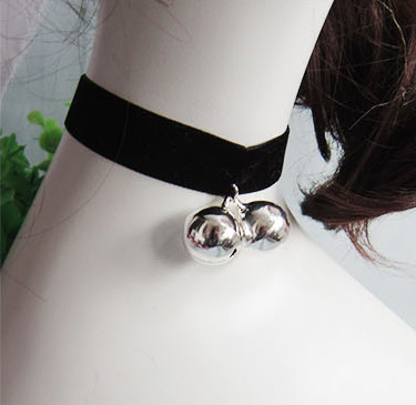 Cosplay Gothic Lolit Velvet Strip Bell Cat Bell Collapsibility Collar Necklace Bow Tie