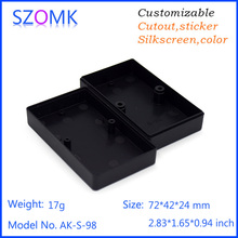 4pcs a lot Small Junction Box Plastic Material Mini size szomk good material  72*42*24mm Case Two Screw electronics enclosure