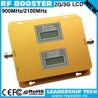 Wholesale RF GSM/WCDMA/UMTS 900mhz/2100mhz 3G dual band 3G cell/mobile phone repeater booster detector repetidor amplifier