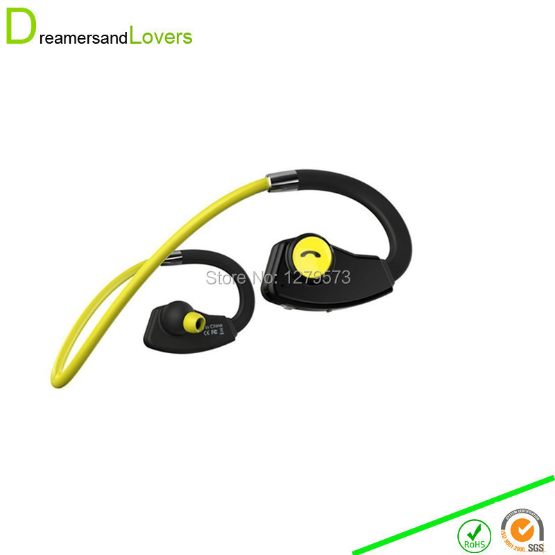 4.0 Sports Bluetooth Earphones Neckband Portable wireless Headset Headphone With Mic For Iphone Samsung Tablet Smartphone Yellow magnet metal sports bluetooth earphone wireless earbud stereo headset with mic neckband headset portable for iphone 7 samsung s8