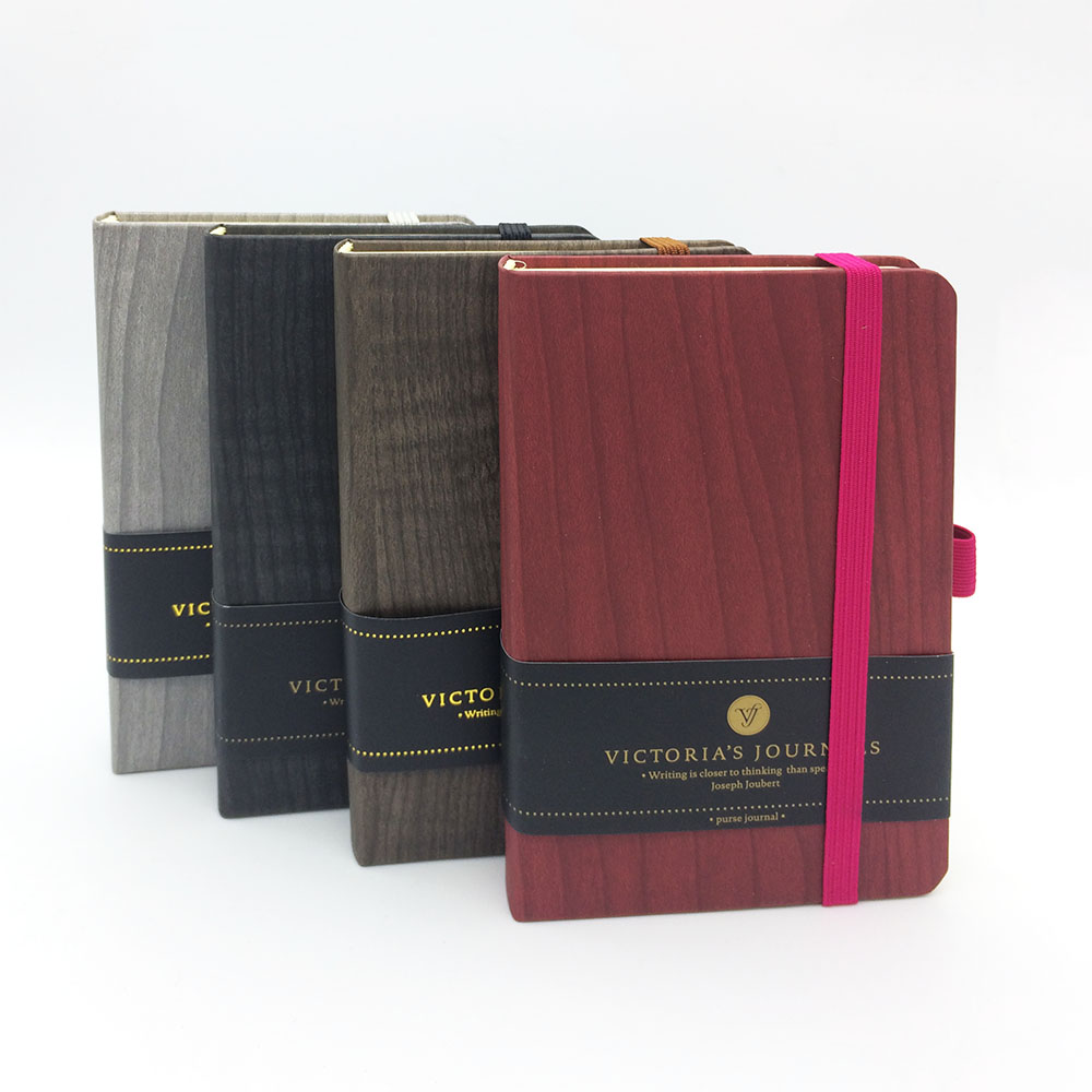 Victorias Journals Duofold Elastic Forest Hard Cover Notebook Lined Ruled Journal