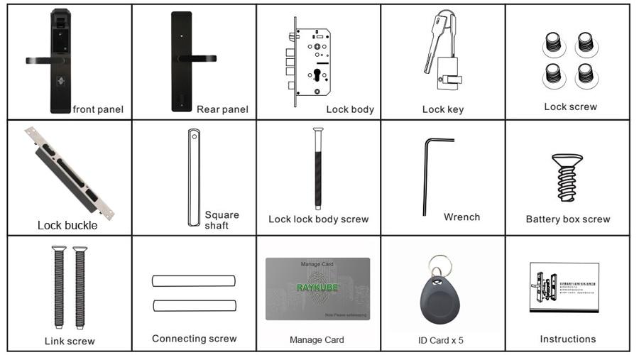 HTB1SV1OBDJYBeNjy1zeq6yhzVXay RAYKUBE Biometric Fingerprint Door Lock Intelligent Electronic Lock Fingerprint Verification With Password & RFID Unlock R-FZ3