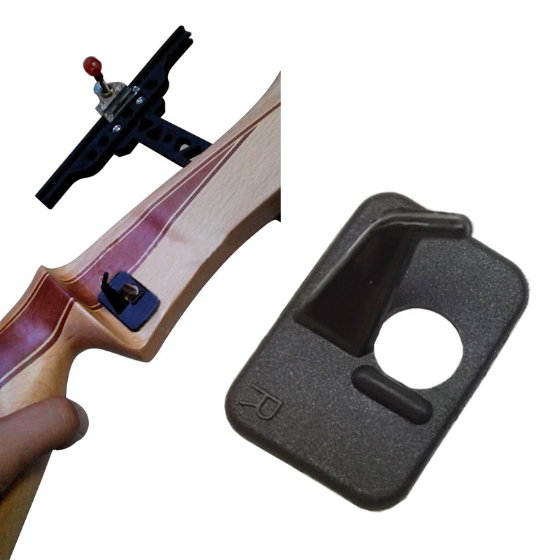 Right Hand Plastic Arrow Rest For Recurve Bow In Black Color Achery Shooting Outdoor Sport