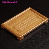 Bamboo tea tray bamboo tea table office tray simple tray drainage home saucer small bamboo tray