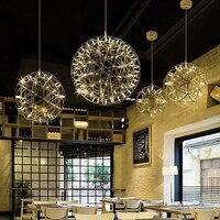 Ditoon постмодерн Spark Pendnt свет дизайнера гостиная обеденная металла лампы для мотоциклов фейерверк светильник серебро розовое золото блеск