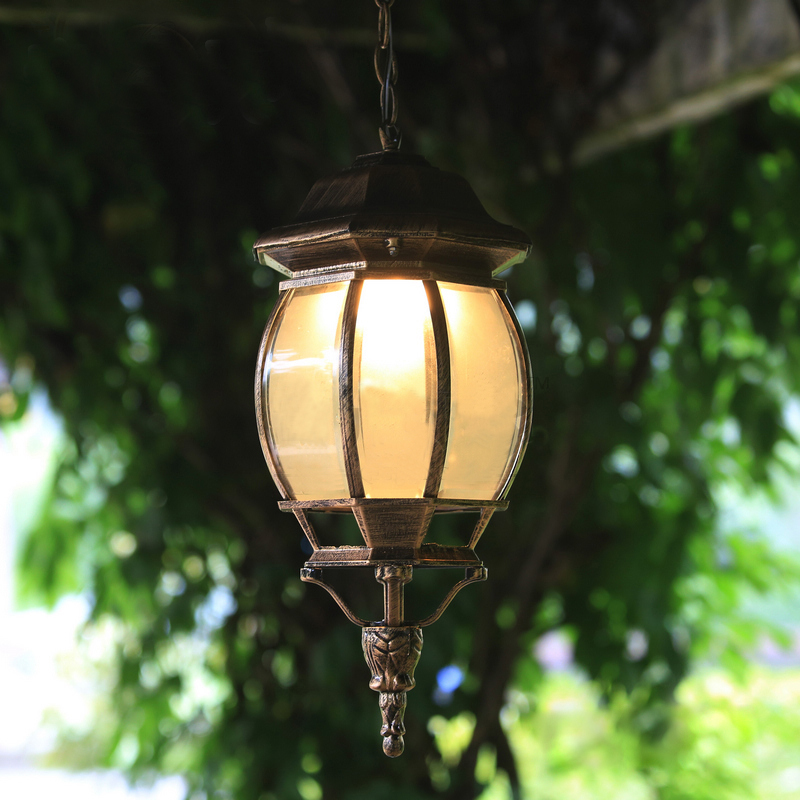 Здесь можно купить  Outdoor Light waterproof LED aluminum pendant lights puppy garden corridor garden lamp villa terrace balcony pendant lamps ZA  Свет и освещение
