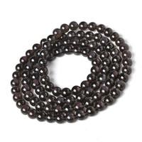 Genuine Jewelry Bracelet Natural Ice Obsidian Crystal Fashion 108 Bead Amulet 3 Laps Round Beads Bracelets