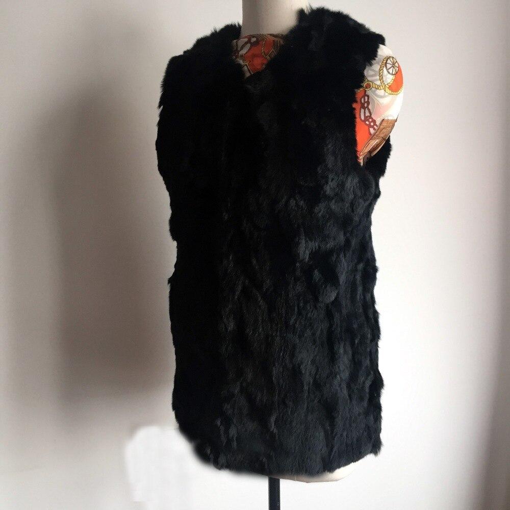 La À Femmes Dfp711 Marque Femelle Main 100 Chaude Fourrure Mode Vrai Gilet Rex Lapin De YnHqZ8w0