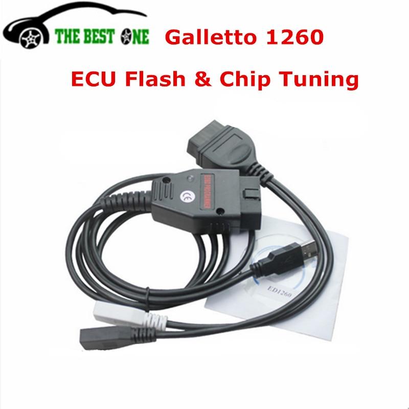 Prix pour Le plus bas Prix Bonne Qualité Galletto 1260 ECU Chip Tuning Interface Galletto 1260 EOBD/EOBDII/OBD2 ECU Flasher Rapide gratuite