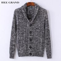 HEE GRAND Hommes Élégant Chandail 2018 Nouveau V-cou Conception 100% Coton Matériel Unique Poitrine Automne Cardigan Taille M-XXL MZM537