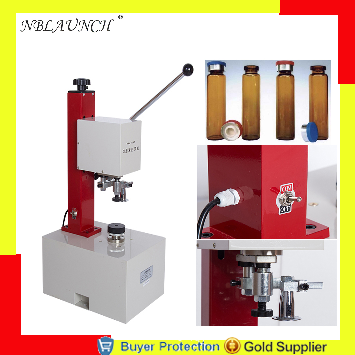 Free shipping oral liquid oral solution packing machine oral solution sealing machine aluminum cap capping machine capper Бутылка