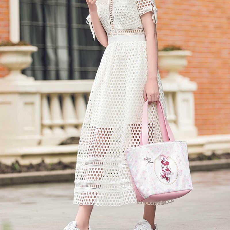 2019 דיסני שקיות אופנה נשים תיק מיקי מיני תיק חיצוני קניות גדול קיבולת תינוק אמא חיתול גדול קניות תיק