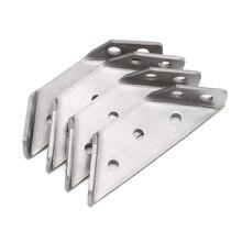 4 шт. маленькая поддержка из нержавеющей стали с прямоугольным кодом фиксированная угловая скобка