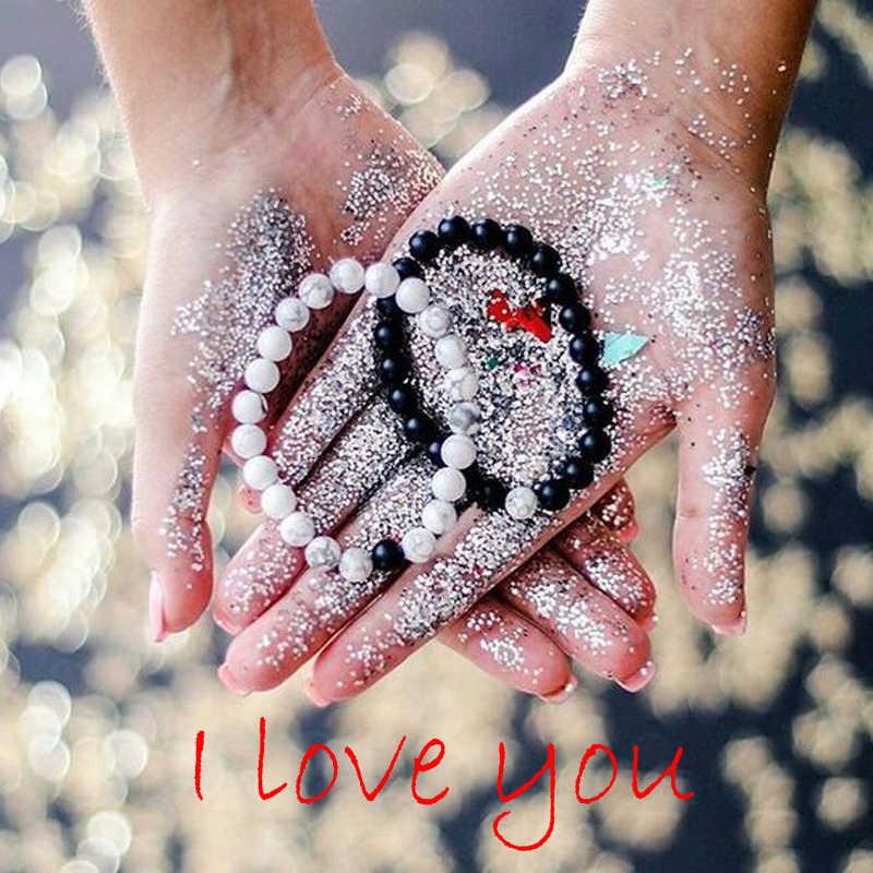 Пара браслет мужские бусы Шарм натуральный тигровый глаз камень браслеты ручной работы браслет на заказ homme ювелирные изделия женские браслеты
