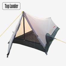 Ultrakönnyű Túra Camping Sátrak 1 személy Vízálló Kis Egyedülálló 1 Férfi könnyű sátor Solo Bivvy Sátor hátizsákkal Alumínium