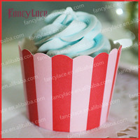 50pcs 6*5*4.5cm Red and Pink Stripes Cupcake Case, Muffin Paper Cake Cups Cake Cup Liners,Cupcakes Holder Supplies