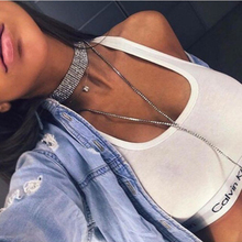 цена на New Rhinestone Choker Necklace Luxury Statement Crystal Choker Necklaces for Women Chunky Accessories Fashion Party Jewelry