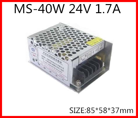 40W 24V 1.7A Compact Single Output Switching power supply for LED Strip light  AC-DC 1200w 48v adjustable 220v input single output switching power supply for led strip light ac to dc