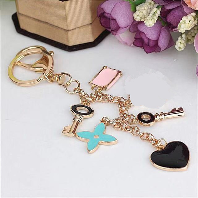 Crystal Rhinestone Flower Keyrings Key Chains Holder Purse Bag For Car christmas Gift Keychains Jewelry
