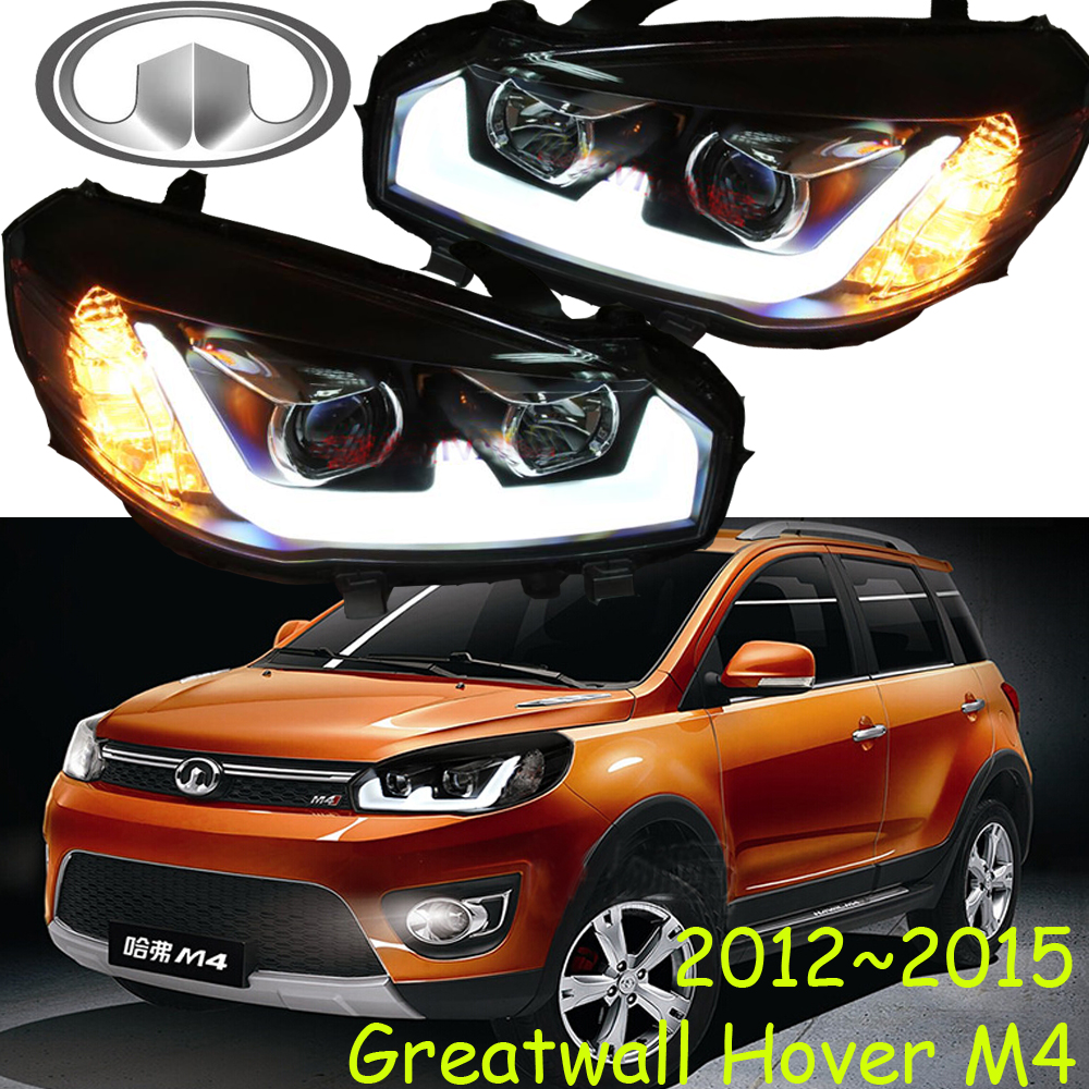 Hover M4 headlight,2012~2015,M4,Fit for LHD,Free ship! Hover M4 fog light,2ps/set+2pcs Aozoom Ballast; Hover M4 mitsubish grandis headlight 2008 fit for lhd