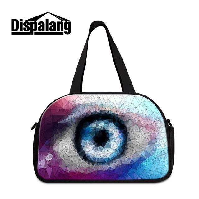 Dispalang impressão 3d lifelike eye sacos de viagem com unidade de sapato independente saco da bagagem do duffle dos homens das mulheres moda popular atacado