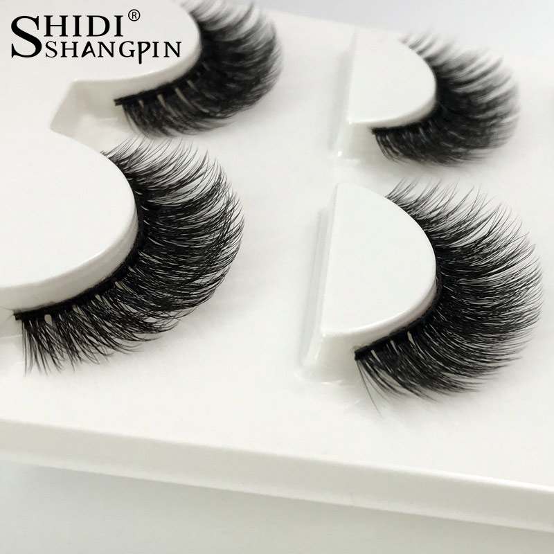 3 Pairs natural false eyelashes thick makeup real 3d mink lashes eyelash extension non magnetic fake lashes long mink eyelashes
